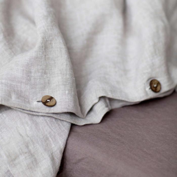 Melange - copripiumino beige in lino