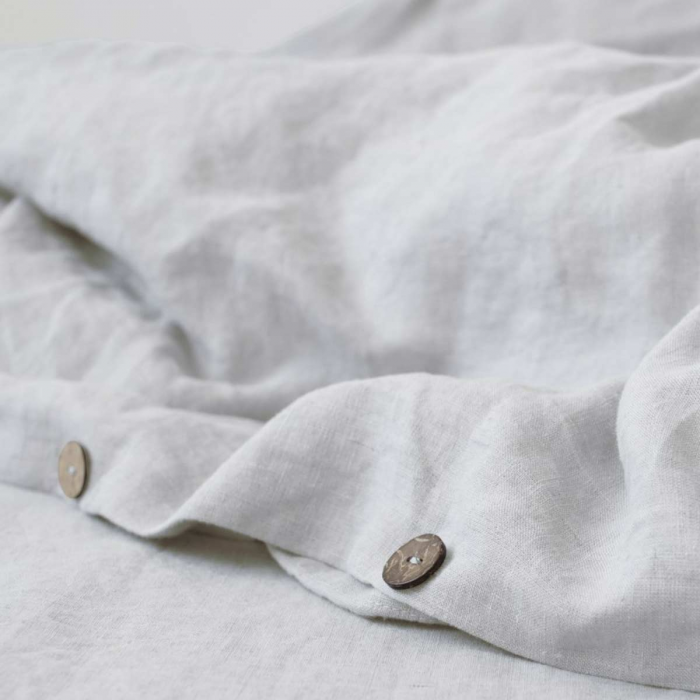 Silver - copripiumino grigio in lino