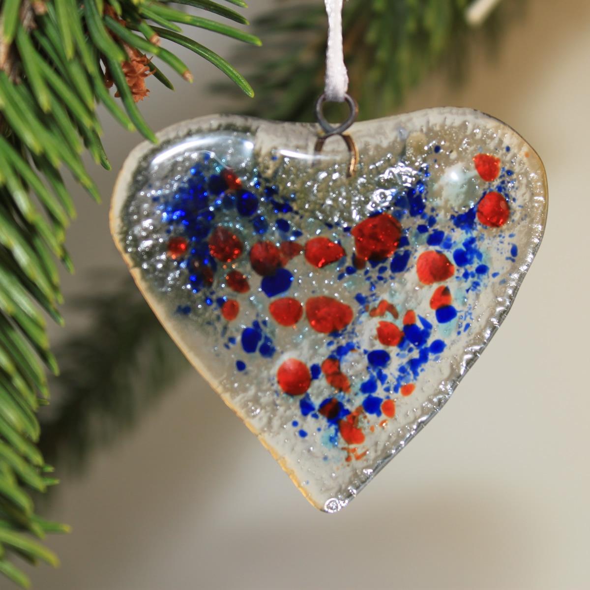 Decorazione natalizia in vetro di murano cuore - Decorazioni vetro ...
