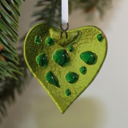 Cuore - decorazione natalizia in vetro di Murano