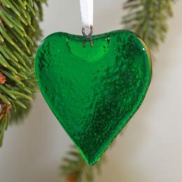Cuore verde smeraldo - in vetro di Murano