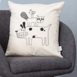 Cuscino in serigrafia animali