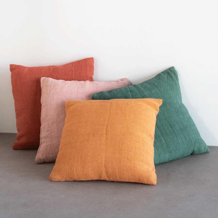 Cuscino in iuta arancione Golden Oak