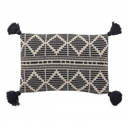 Cozy - Cuscino a rombi bianco e nero