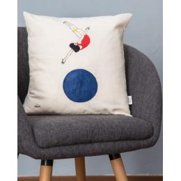 Cuscino cotone - Cuscino dipinto a mano Jump