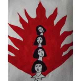 Cuscino dipinto a mano Women