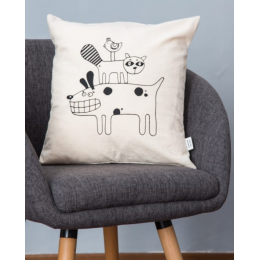 Cuscino cotone - Cuscino in serigrafia animali