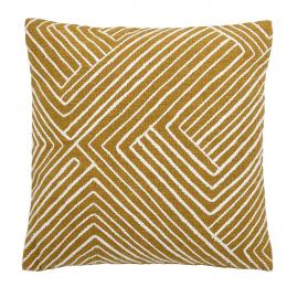 Nordic - Cuscino giallo ricamato
