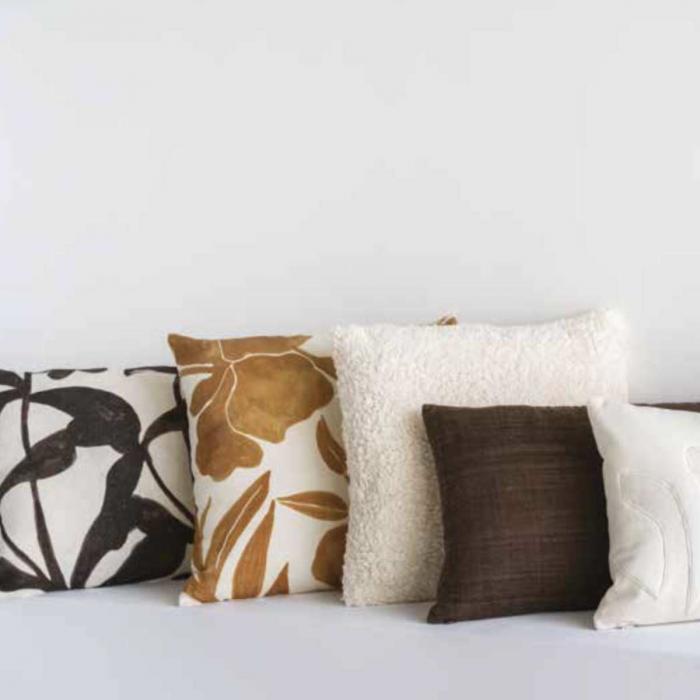 Ebony - cuscino in lino fantasia