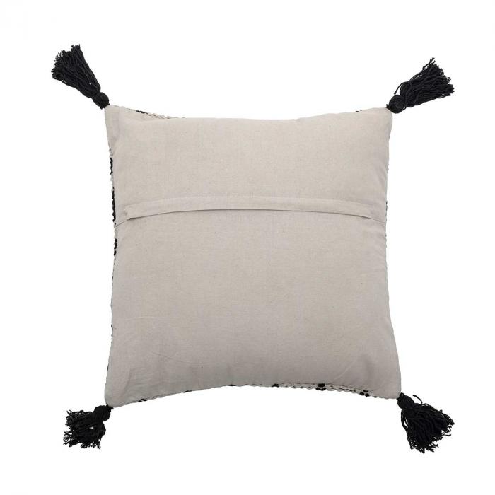 Gustaf - Cuscino quadrato bianco e nero