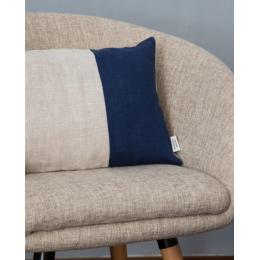 Cuscino lino - Cuscino rettangolare blu oceano