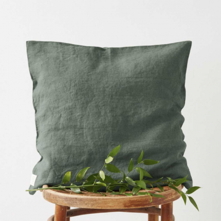 Silvae - cuscino in lino forest green