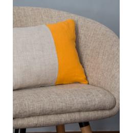 Cuscino lino - Cuscino rettangolare oro