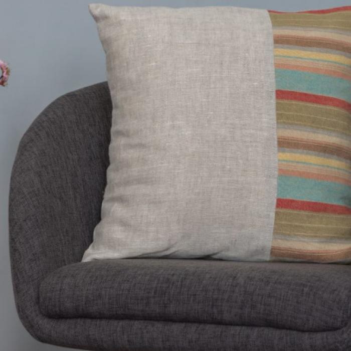 Cuscino lino a righe