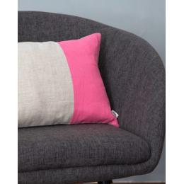 Cuscino lino - Cuscino rettangolare rosa