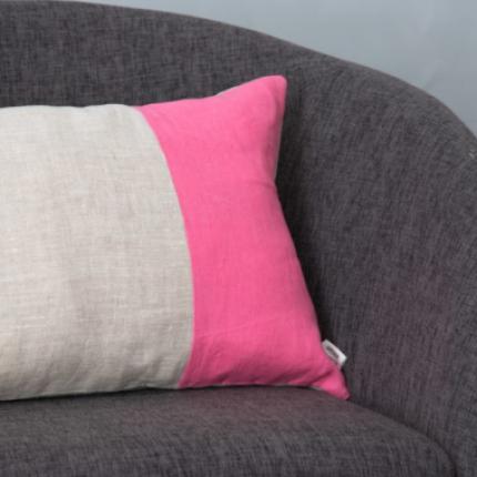 Cuscino rettangolare rosa