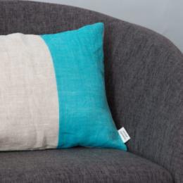 Cuscino rettangolare turchese