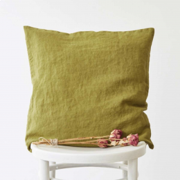 Silvae - cuscino in lino moss green