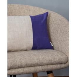 Cuscino lino - Cuscino rettangolare viola