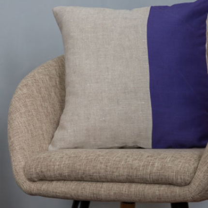 Cuscino lino viola