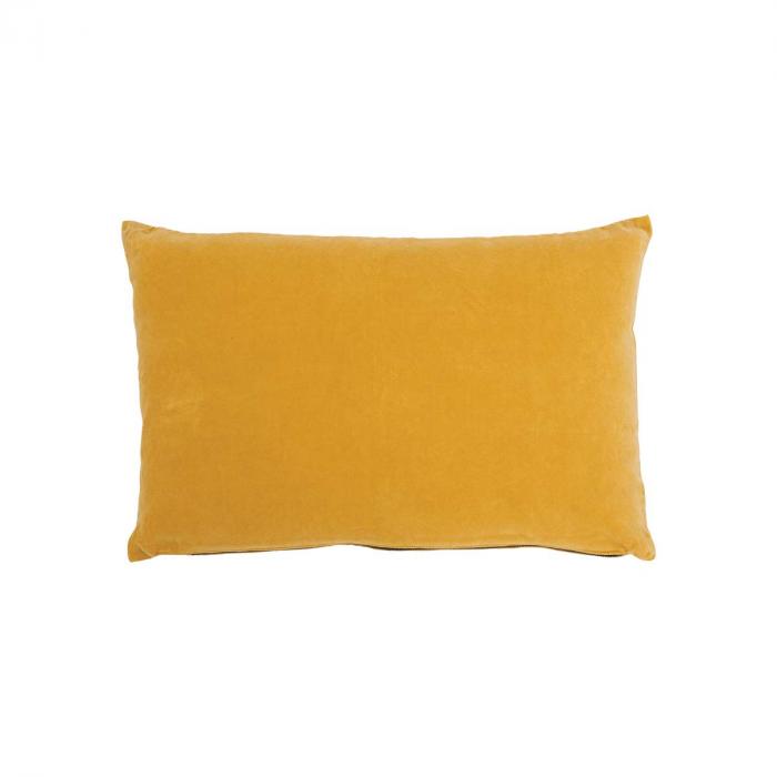 Yolk Yellow - Cuscino giallo in velluto