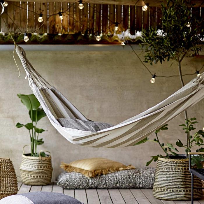 Cozy - Cuscino verde a righe