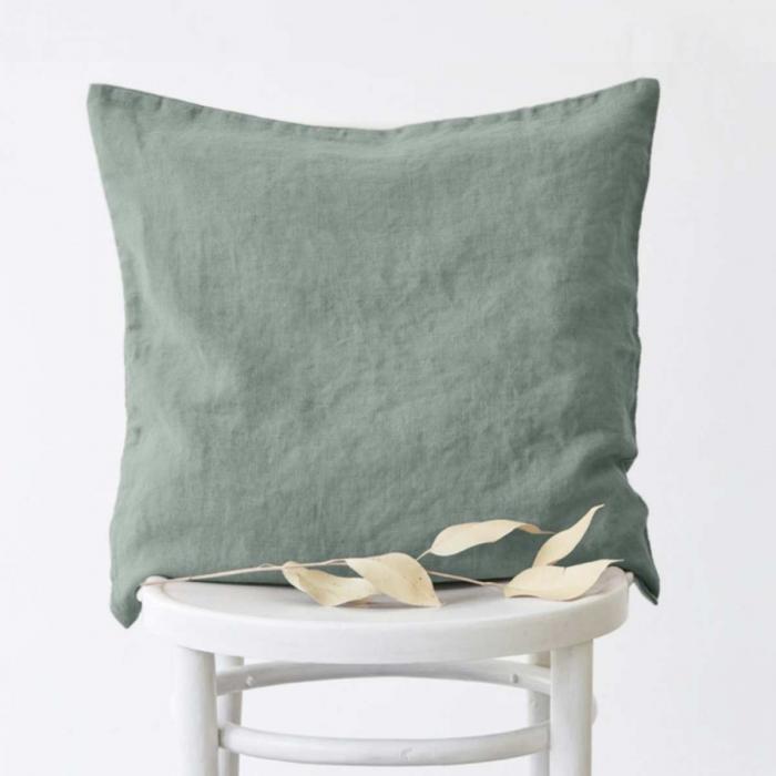 Silvae - cuscino in lino verde green milieu