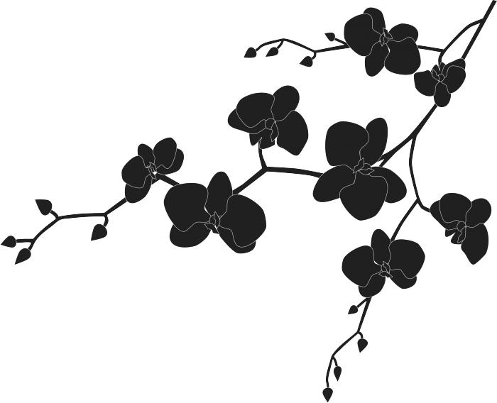 Decorazione adesiva floreale livingdeco 39 for Decorazione floreale