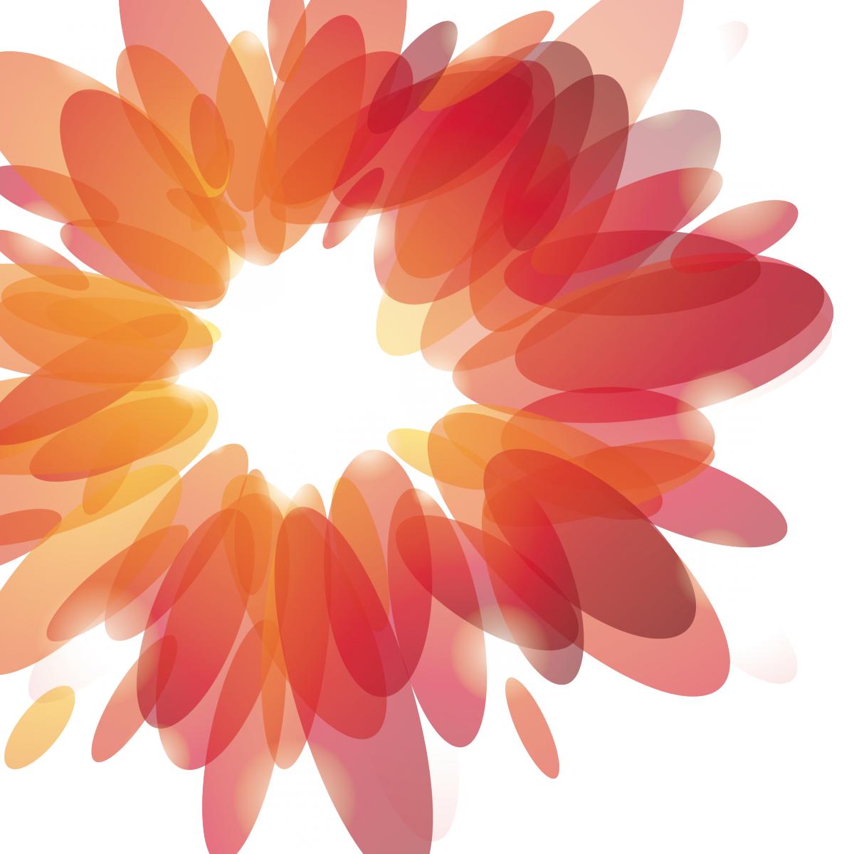 Sticker colorato per muro o vetro livingdeco 39 for Decorazione floreale