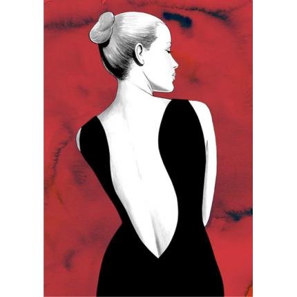 Stampa quadro su tela di Diabolik  & Eva - Red Eva