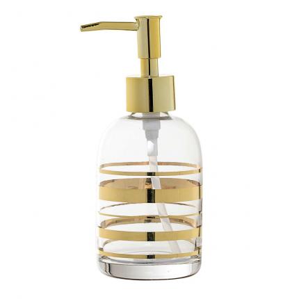 Mussah - Dispenser per sapone in vetro dorato