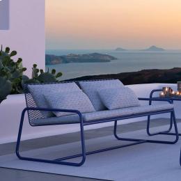 Lolita - divano da esterno in metallo blu