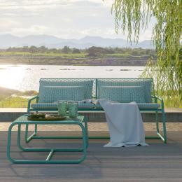 Lolita - divano da esterno in metallo verde salvia
