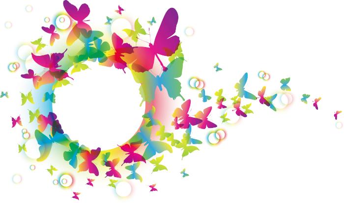 Sticker con farfalle colorate livingdeco 39 for Immagini di pareti colorate