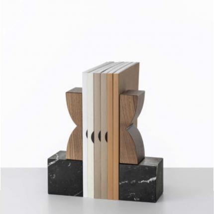 Constantin - fermalibri in legno e marmo