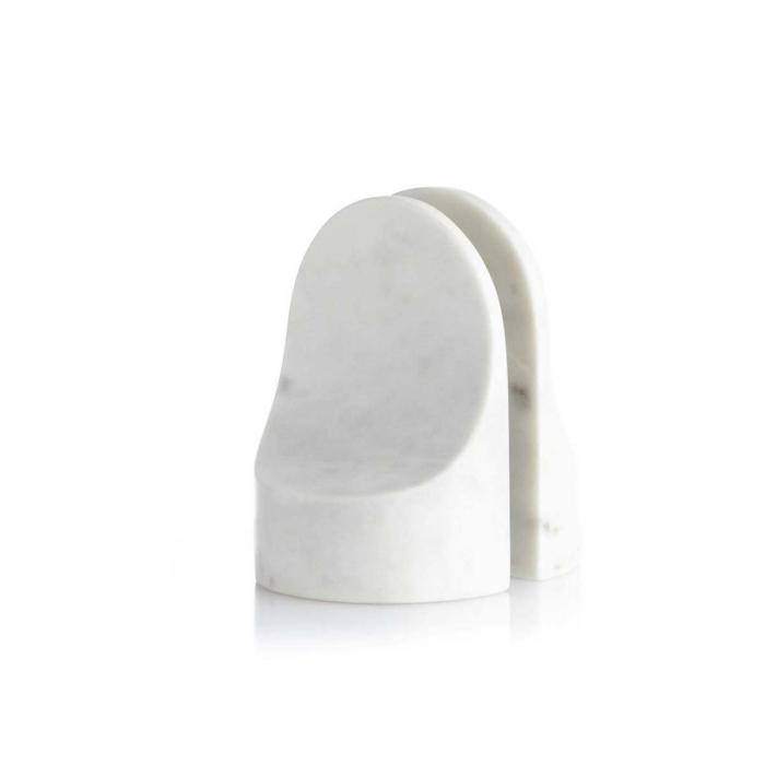 Emoji - fermalibri in marmo bianco