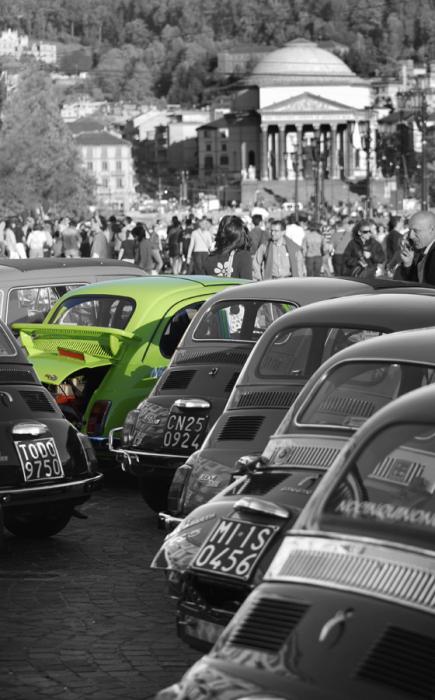 Immagine murale auto e motori fiat 500 verde livingdeco 39 for Decoration murale fiat 500