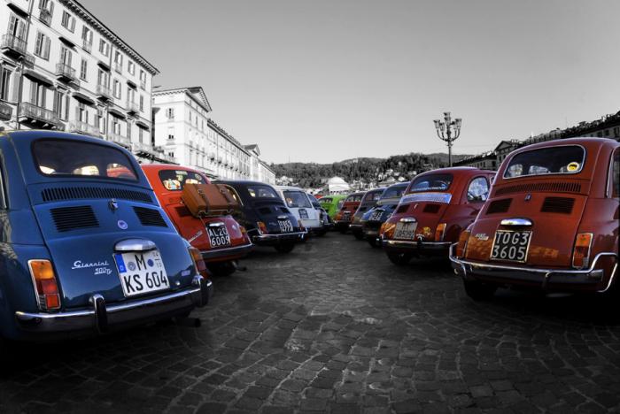 Fiat 500 colori