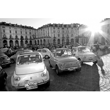 Fiat 500 in bianco e nero
