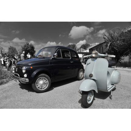 Fiat 500 e Vespa