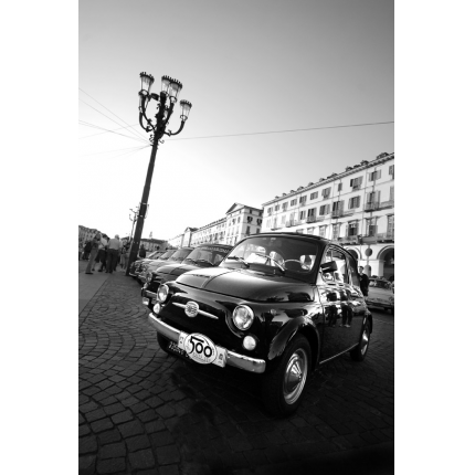 Foto murale auto auto epoca torino livingdeco 39 for Decoration murale fiat 500
