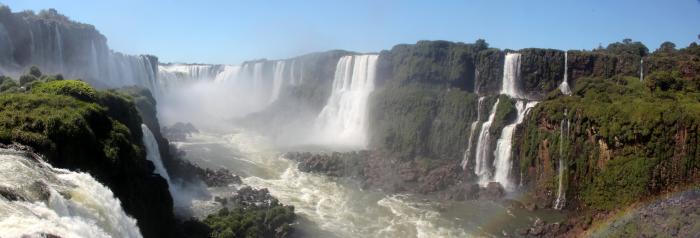 Panoramica cascate di Iguaçu