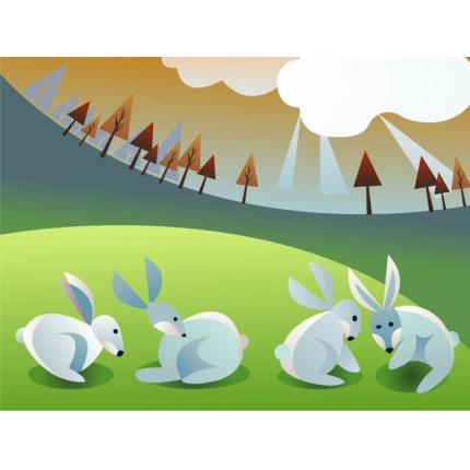 Coniglietti bianchi