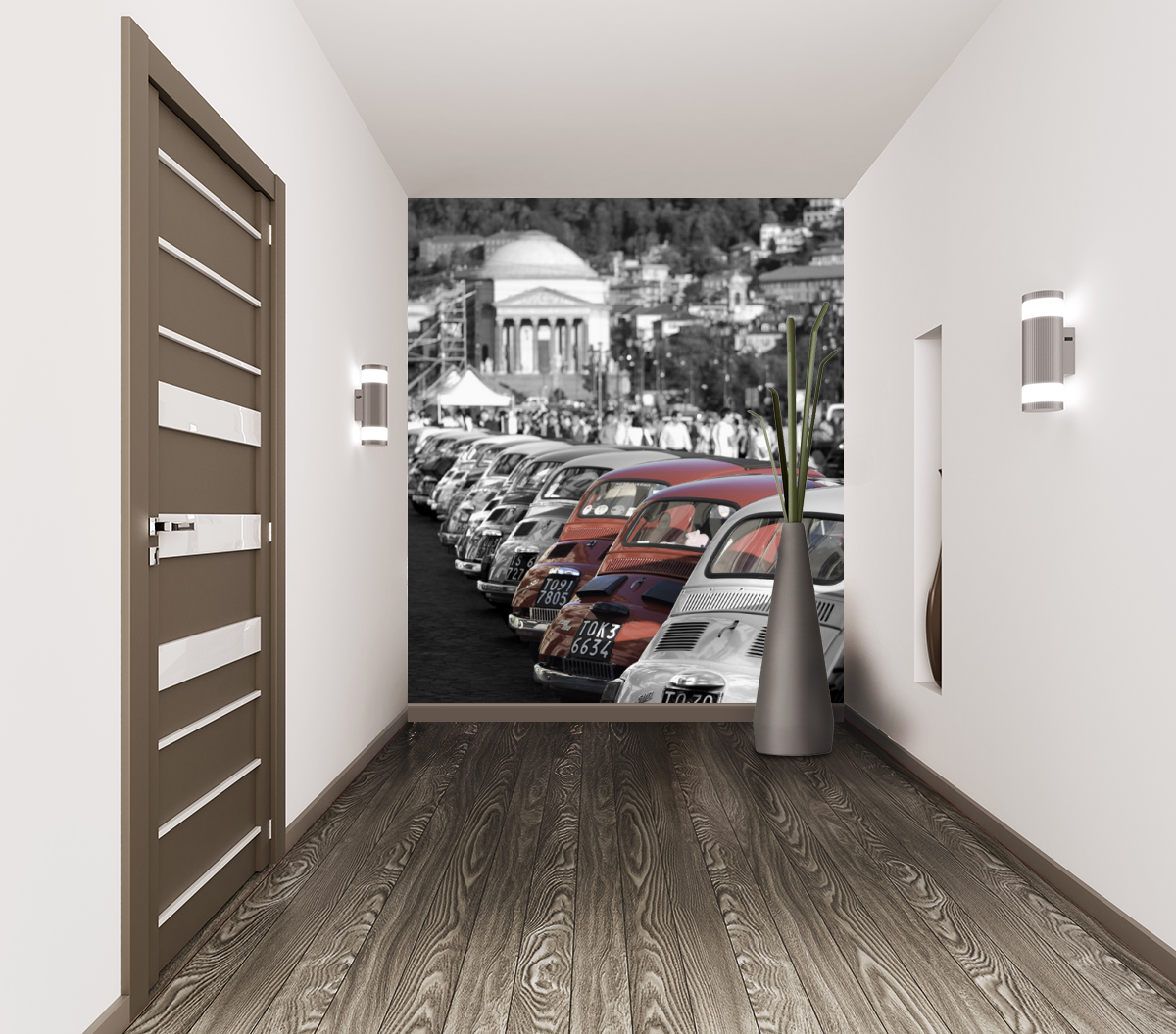 Foto murale motori fiat 500 rosse livingdeco 39 for Decoration murale fiat 500