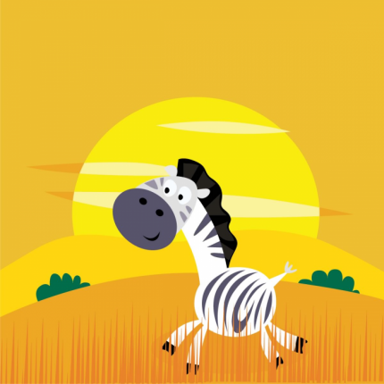 Zebra corre