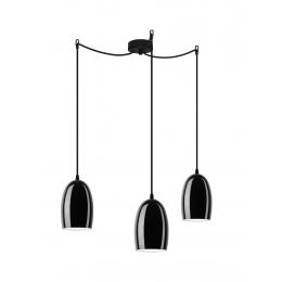 Lampadario UME 3/S - Black Glossy