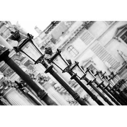 Fotomurali Black & White - Lampioni a Parigi
