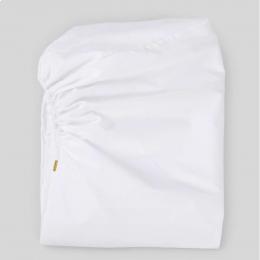 Lenzuolo bianco con angoli in percalle di cotone