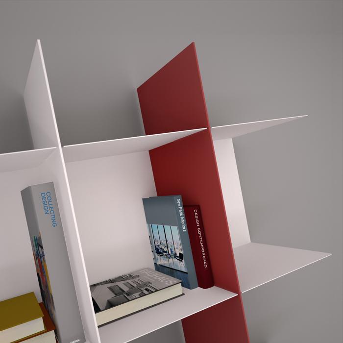 Modulo a C per libreria componibile INNESTO
