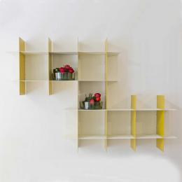 Libreria INNESTO bianca e gialla